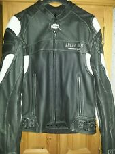 Mens ARLEN NESS leather motorcycle jacket size 44