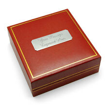 Jewellery Gift Box Red Imitation Leather Engraved FREE Present