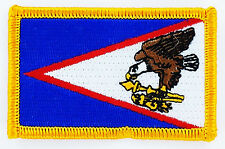 AUFNÄHER Patch FLAGGEN flagge SAMOA USA STAATEN flag Fahne 7x4.5cm