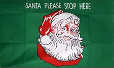 3' x 2' Santa Please Stop Here Flag Xmas Party Father Christmas Banner