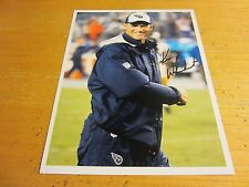 Ken Whisenhunt Autographed Signed 8.5X11 Photo NFL Football Tennessee Titans