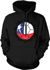 Chile Flag Soccer Ball República de Chile Pride La Roja Red One Hoodie Pullover