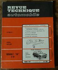 REVUE TECHNIQUE AUTOMOBILE n' 299 mars 1971. Renault 16 9cv. Spécial outillage.