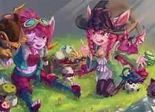 Poster A3 League Of Legends Tristana Lulu Domadora de Dragones / Dragon Trainer