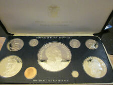 PANAMA 1975 9 COIN PROOF SET WITH 20 BALBOA ( 5,7oz SILVER ) - complete