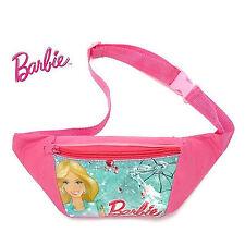 Girls Kids Barbie Travel waist phone small Hip Bum Sport Pink Bag zip Pouch