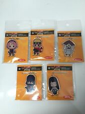 D4 The LAST Naruto Movie Rubber Keychain Figure Strap 1Set=5 pieses Japan Anime