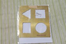 Stampin Up Classy Brass Template / Little Shapes / Dry Emboss Stencil