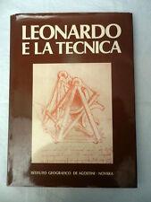 LEONARDO E LA TECNICA Istituto Geografico De Agostini 1978 Libro