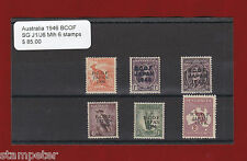 1946 Australia BCOF Selection of 6 stamps SG J1/J6 MLH
