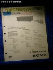Sony Service Manual STR DE445 /DE545 /SE501 FM/AM Receiver (#5268)