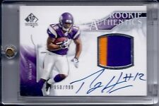 PERCY HARVIN 2009 SP AUTHENTIC AUTO 2 CLR JERSEY ROOKIE RC MINT SEAHAWKS STAR