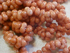 Vtg 2 STRANDS ROSE PICASSO GLOSSY FARFALLE GLASS BEADS JEWELRY #082413zz