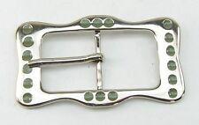 1 Fermoir / Boucle de ceinture 3 cm argent / vert émail 05.20/300