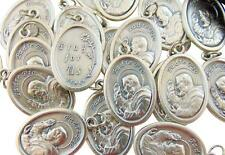 "Set of 10 St Padre Pio Medals 3/4"" Metal Catholic Saint Bulk Lot Gift from Italy"