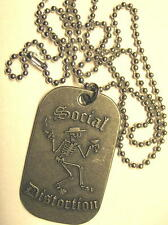 "SOCIAL DISTORTION DOG TAG ""LOGO"" - NECKLACE - HUNDEMARKE - HALSKETTE"