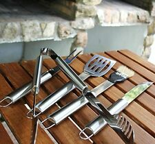 5 PCS BBQ Grill Cooking Utensils Tool Set Stainless Steel Barbeque Summer Garden