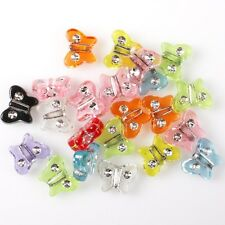 250pcs 112435 Wholesale Butterfly Clear Rhinestone Mixed Spacer Beads Charms