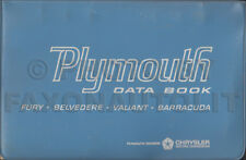 1965 Plymouth Data Book Dealer Album Barracuda Fury Valiant Belvedere Satellite