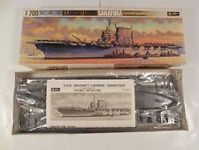 UN-BUILT VINTAGE US AIRCRAFT CARRIER SARATOGA 1:700 SCALE MODEL KIT FUJIMI