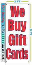 We Buy Gift Cards VERTICAL Banner Sign NEW LARGER Size Best Quality 4 the $$