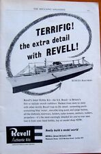 RARE 1960 Revell S.S. BRASIL model kit  ORIGINAL MAGAZINE AD