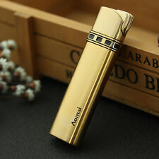 Gold Fashion Cigar Butane Gas Refillable Jet Flame Flint Cigarette Lighter