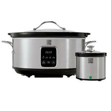 Kenmore 7 Qt. Stainless Steel Slow Cooker with Dipper / Slow Cookers Small