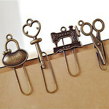 Mini Retro Metal Bookmark Reading Magazine Paper Clip Marks Label 2 Pcs/Set DES