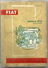 1960 FIAT motore 213 Verticale catalogo parti di ricambio C 40 N- C 50 N- 645 N