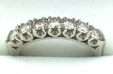 LADIES 14KT WHITE GOLD AND DIAMOND ADJUSTABLE WEDDING BAND RING - RARE!