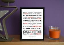 Framed - The Script - Superheroes - Poster Art Print - 5x7 Inches