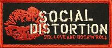 "SOCIAL DISTORTION AUFBÜGLER / EMBROIDERY PATCH # 8 ""SEX LOVE & ROCK 'N' ROLL"""
