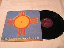 "Paul McCartney 12""  Single with Original Cover-QU EST LE SOLEILx3"