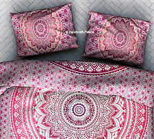 2 PC Pink Ombre Mandala Pillow Sham Indian Pillow Cover Bohemian Cushion Cover