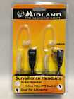 Midland AVPH3 AVP-H3 Security Surveillance Headsets for Midland Radio (Pair) U33