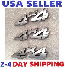 3X Chrome 4X4 EMBLEM 4 X 4 Old Car PACKARD HUDSON STUTZ TRIUMPH logo decal BADGE