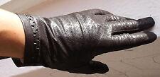 DAMEN LEDER HANDSCHUHE Kaiser Leather Fingerhandschuhe Muster Zartbitter 7 3/4