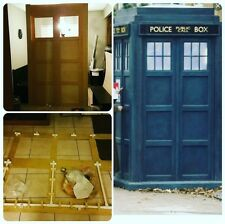 Dr Who Tardis Lifesize Building Plans For London Police Box and Photos Whovian