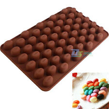 55 mini Chocolate beans Silicone Mold DIY Chocolate Jelly Candy Soap Baking Mold