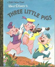 The Three Little Pigs LITTLE GOLDEN BOOK New DISNEY Classic VINTAGE ART Bad Wolf