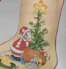 Counted Cross Stitch Stocking kit,MERRY CHRISTMOUSE,MPN 02839,Needle Treasures