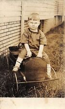 A93/ Children Real Photo RPPC Postcard c1910 Pedal Car Sit On Hood Child 13