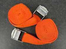 Pack of 2, 2m Luggage Straps/Tie Downs with Metal Cam Buckle