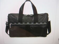 Lesportsac 2291 CR LARGE WEEKENDER, TRUE BLACK, NEW WITH TAG