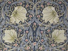 WILLIAM MORRIS CURTAIN FABRIC Pimpernel 1 METRES INDIGO & HEMP DM3P224494
