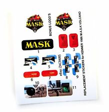 MASK stickers for KENNER M.A.S.K VOLCANO Personalized + BONUS