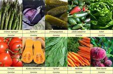 10 Gemüse Samen Set 1, Gurke, Kohl, Spargel, Kürbis, Möhren, Salat, Spinat, ...
