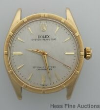 New Unusual 14k Gold Rolex 6569 w Stainless Back Thunderbird Mens Watch