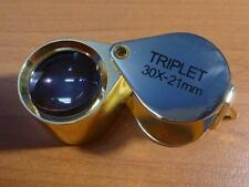 ARC Form Folding Magnifier Triplet 30X Jewelers Eye Loupe Magnifying Ring Glass